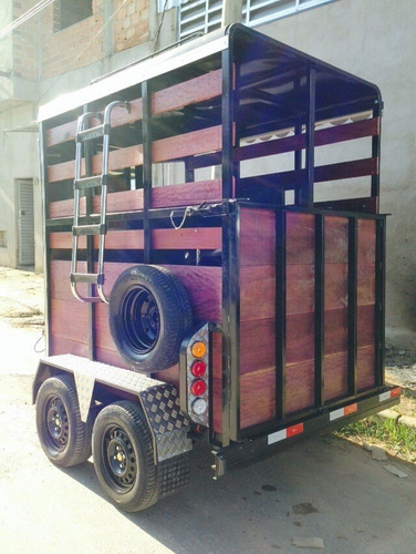carretinha reboque trailer 2 cavalos frente inox