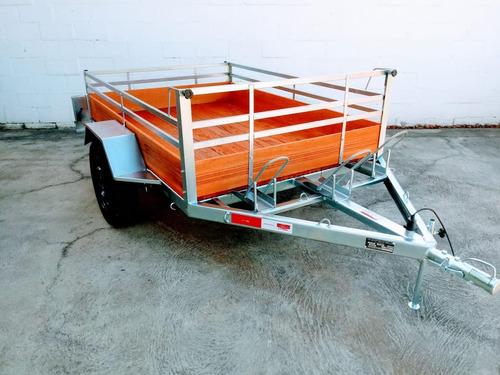 carretinhas modelo carga e moto 1,40 x 2m com 3 sup/ de moto