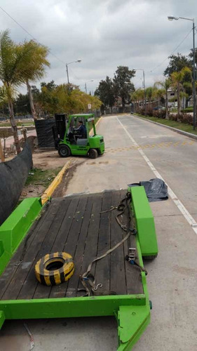 carreton trailer bobcat autoelevador 5tn doble eje