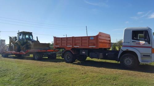 carreton transporte maquinaria - retroexcavadora - mini