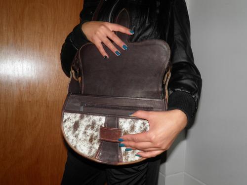 carriel bolso paisa tipico manos libres cuero natural bogota