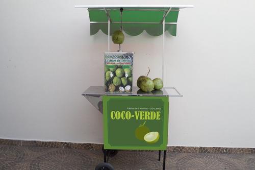 carrinho ambulante de água de coco gelada desc especial