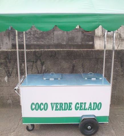 carrinho ambulante de água de coco gelada desc.r$ 700
