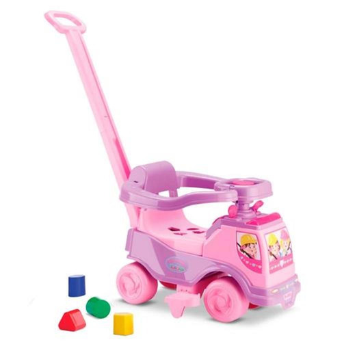 carrinho andador infantil bebe totoka menina rosa cardoso