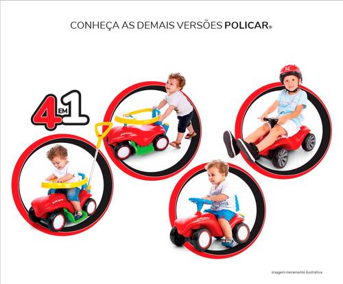 carrinho andador policar® vermelho - 7072