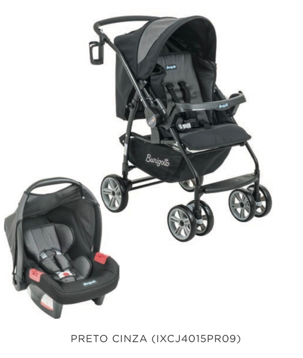 b938c90db carrinho at6k 2018 + bebê conforto burigotto preto com cinza. Carregando  zoom.