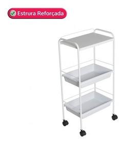 00f194aa6 Carrinho Auxiliar Estetica Com Gaveta no Mercado Livre Brasil