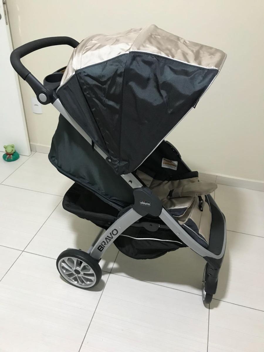 e81550355 carrinho bebê chicco bravo trio completo (7 meses uso). Carregando zoom.