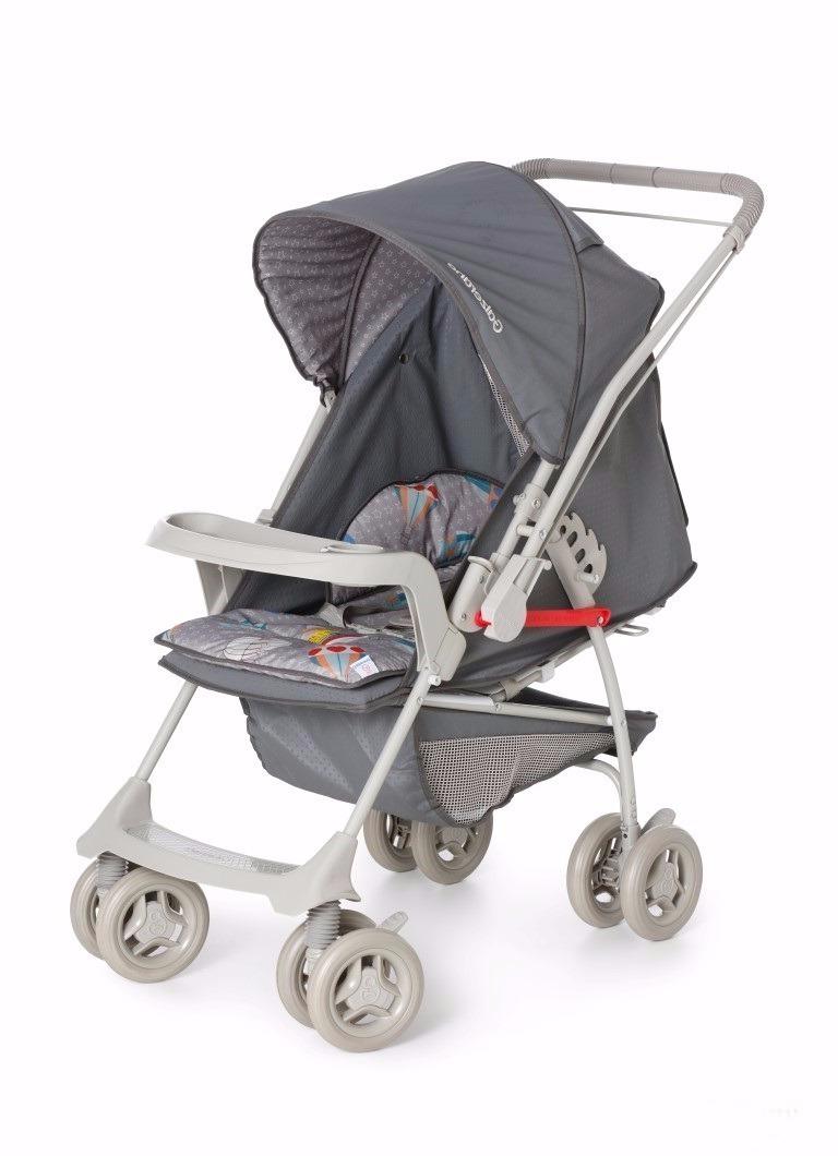 1e7b597b54 carrinho bebê galzerano milano 1016 grafite novo + brinde. Carregando zoom.