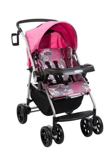 carrinho bebe travel system burigotto at6 k bike rosa