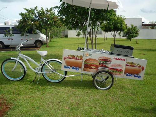 carrinho bike trailer lanche com reboque para bike 2016
