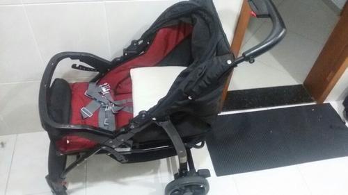 carrinho burigoto mais  bebê conforto para carro c/base