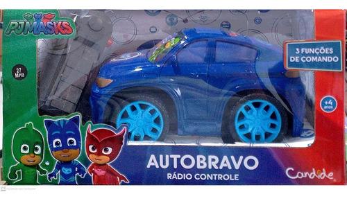 carrinho c/ controle auto bravo pj masks menino gato candide