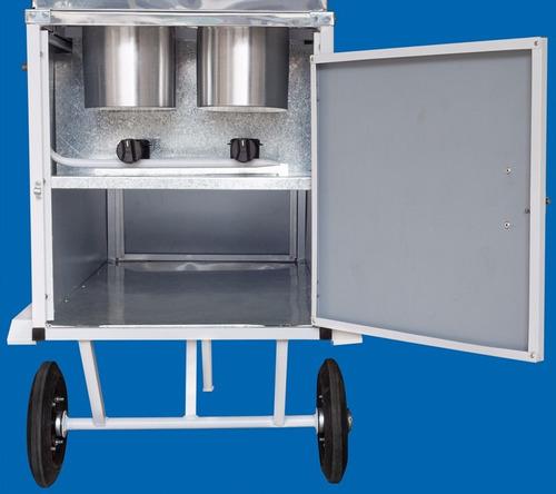 carrinho cachorro quente xdlm007 chapa + 20 placas gelo x