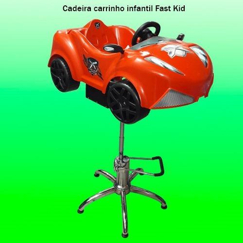 carrinho cadeira hidráulica atendimento e corte de cabelo