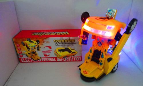 carrinho camaro amarelo vira robo trasformes bate volta