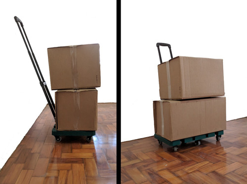 carrinho carga plataforma dobrável 6 rodas facil armazenar