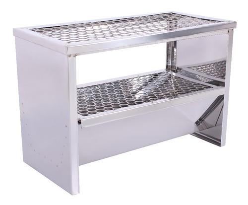 carrinho churrasco churrasqueira 70 espetinhos - inox - r2