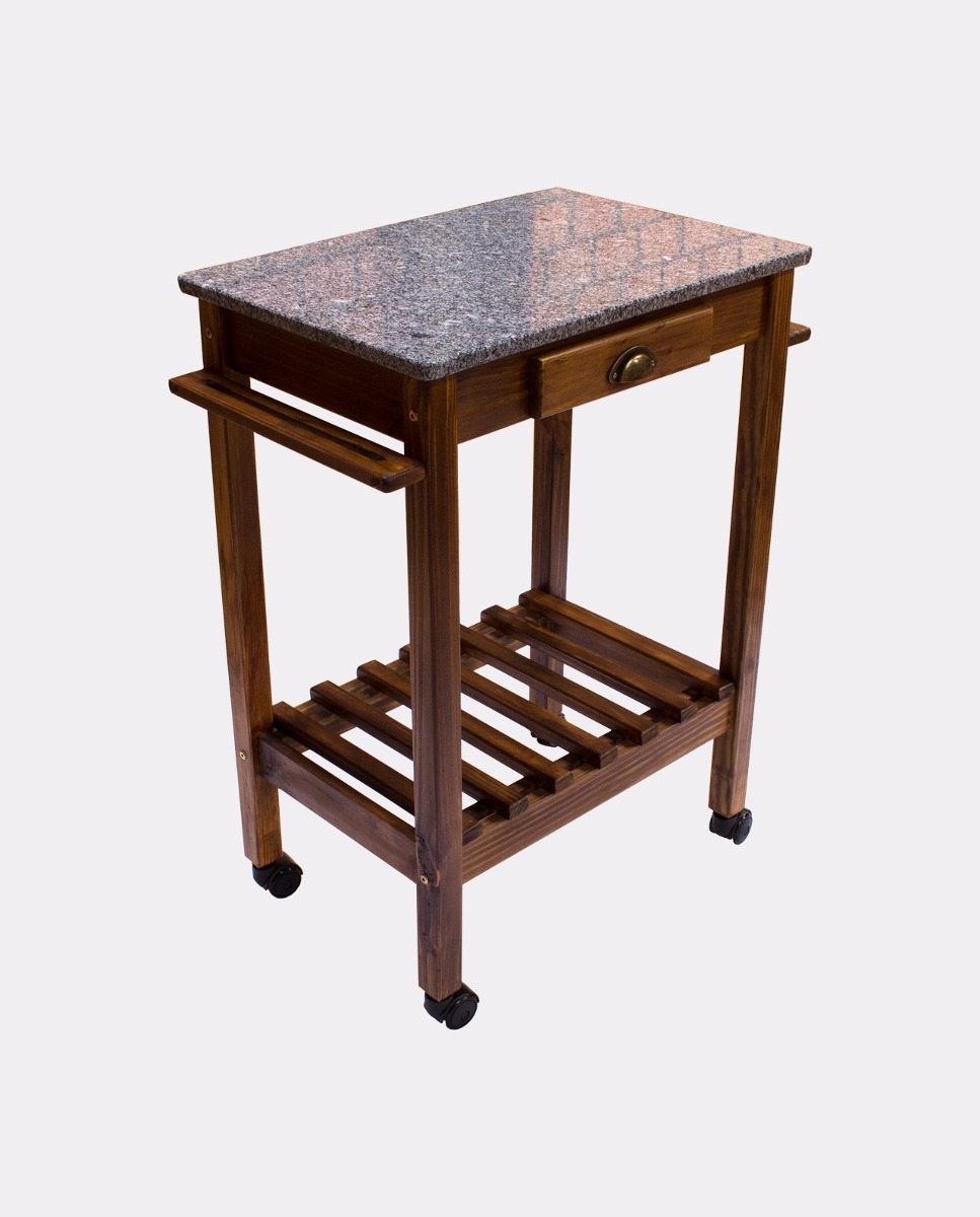 Carrinho churrasco gourmet granito mesa auxiliar - Mesas auxiliares conforama ...
