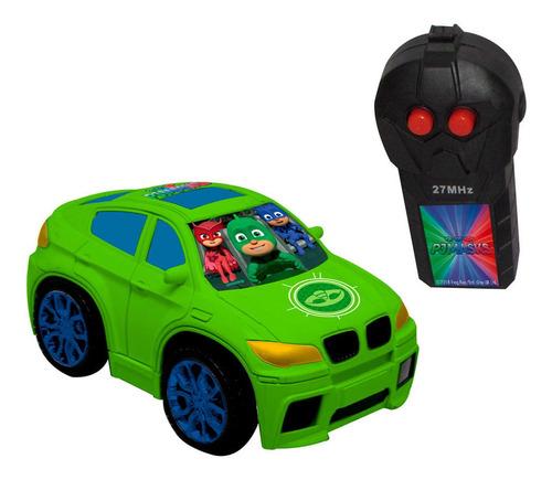 carrinho com controle auto bravo pj masks lagartixo candide