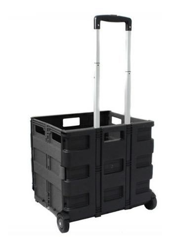 carrinho compra carga cesto dobrável tipo maleta suporta 35k
