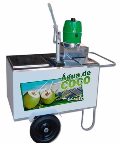 carrinho de água coco gelada  torre furador profissional