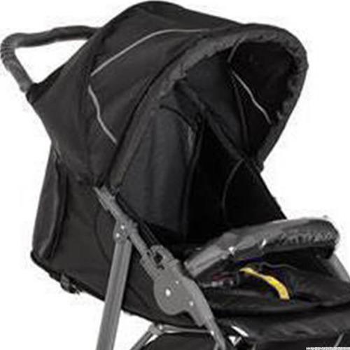 carrinho de bebê 3 rodas cross black - galzerano + brinde