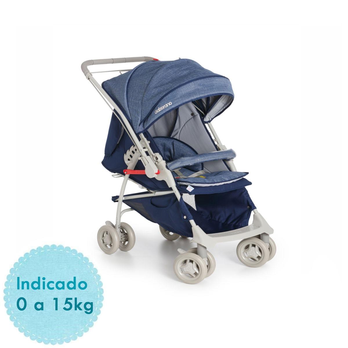 1bc4892b33 carrinho de bebê galzerano maranello ii - azul. Carregando zoom.