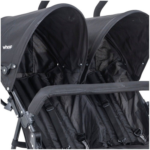 carrinho de bebê gêmeos passeio youme kiddo preto inmetro