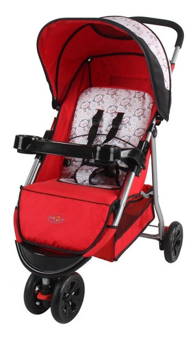 carrinho de bebê junne 3 rodas (triciclo) baby style 3 cores