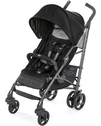 carrinho de bebê lite way 3 basic - chicco - jet black