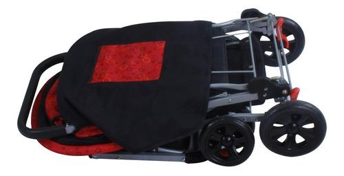 carrinho de bebê modelo sweet baby style vermelho