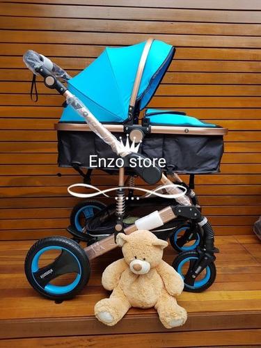 carrinho de bebê moisés importado pneus de borracha