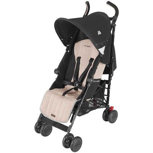 carrinho de bebê quest sport preto e champagne maclaren