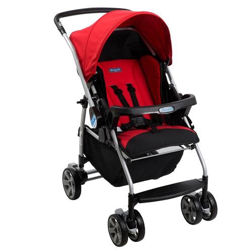 carrinho de bebê rio k vermelho reclinável - burigotto