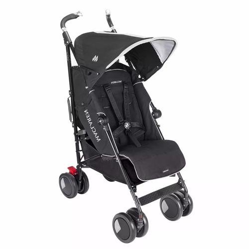 carrinho de bebê techno xt black maclaren + brindes