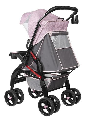 carrinho de bebê tutti baby upper - rosa