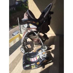 Carrinho De Bebê Chicco Com Bebê Conforto E Suporte Para Car