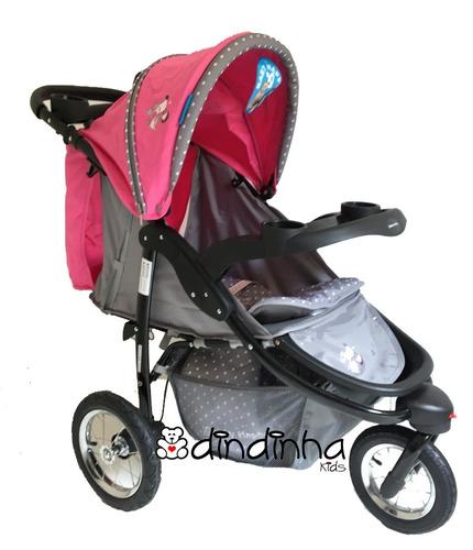 carrinho de bebe três 3 rodas + bebe conforto importado