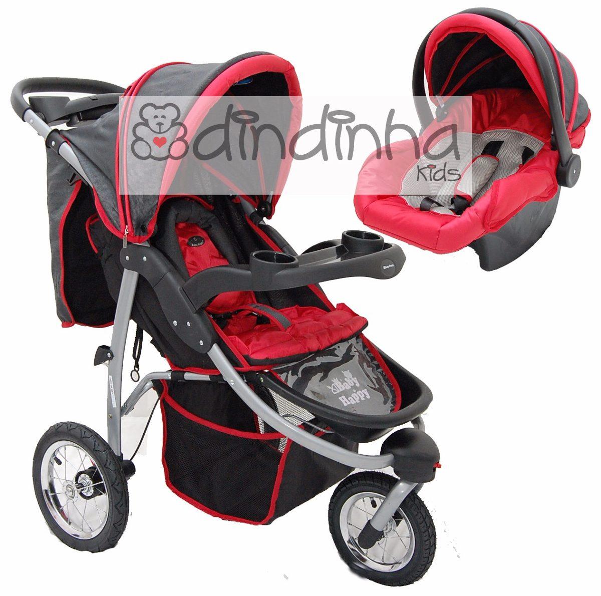 carrinho de bebe três 3 rodas + bebe conforto - passeio. Carregando zoom. e340ae4b51d