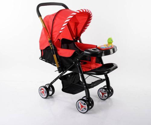 carrinho de bebe vira berço alça reversível reclinável verme