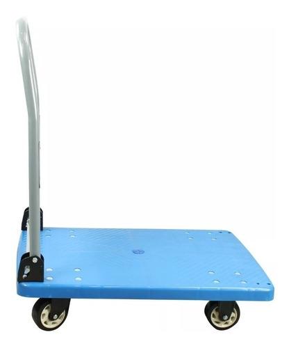 carrinho de carga plataforma dobravel armazem aluminio 150kg