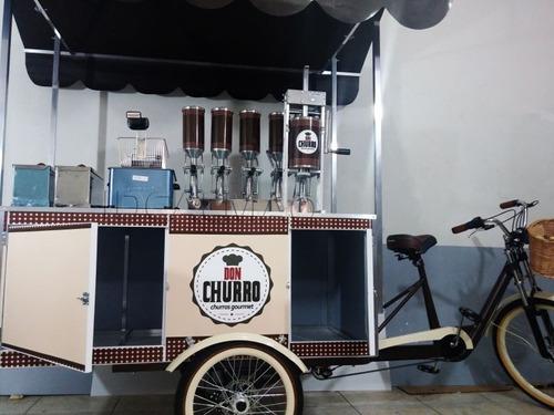 carrinho de churros $300 de desconto ( bike food gourmet)