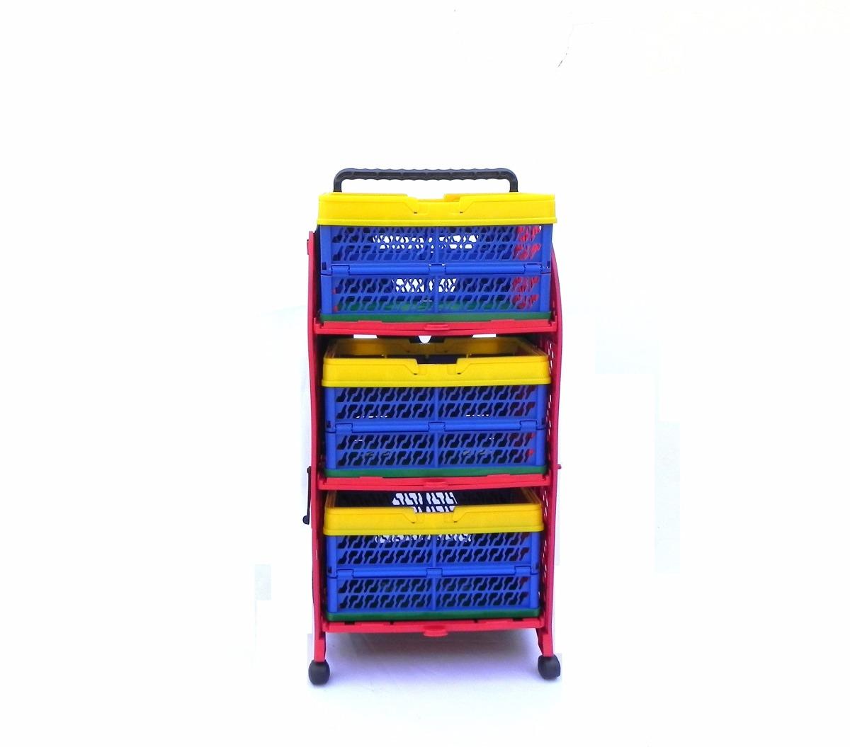 b58a993ff1d6 Carrinho De Compras Desmontável Multiuso - R$ 250,00 em Mercado Livre