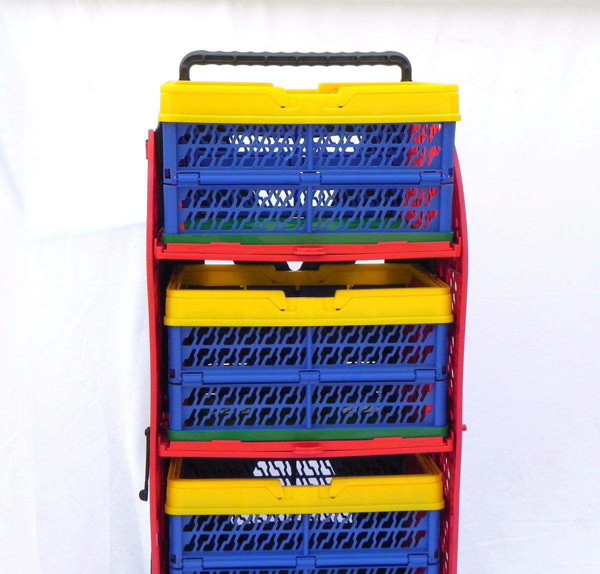 aa4a50f1f415 Carrinho De Compras Desmontável Multiuso - R$ 292,00 em Mercado Livre
