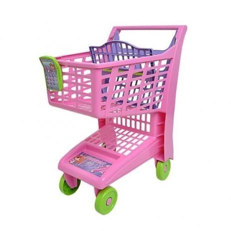 20188e1aec Carrinho De Compras Infantil Supermercado Rosa Frete Grátis - R  129 ...