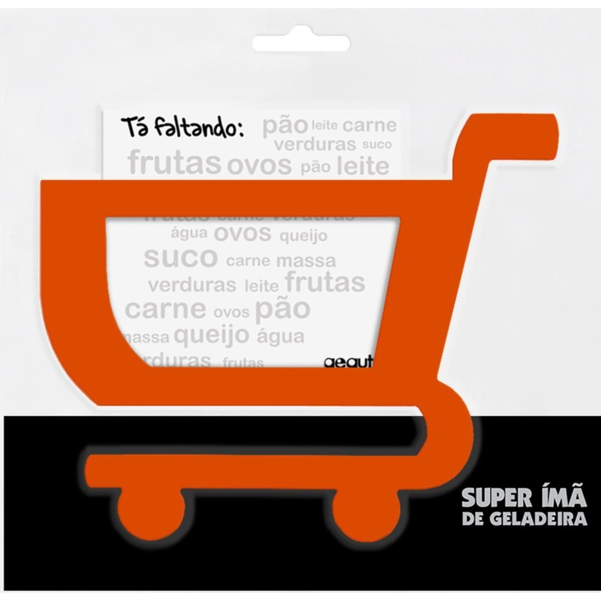 2bad65b5f5 carrinho de compras tá faltando super ímã geladeira laranja. Carregando  zoom.
