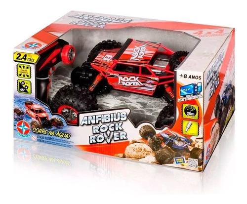 carrinho de controle anfibius rock rover vermelho - estrela