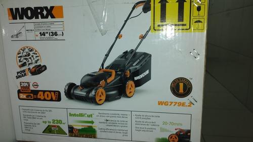 carrinho de corta grama worx