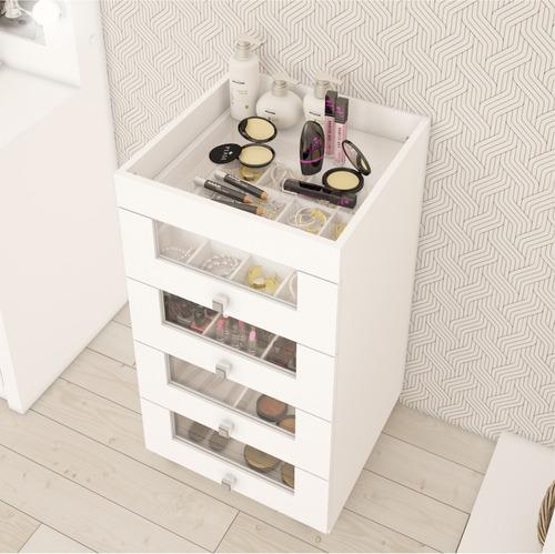 carrinho de maquiagem 4 gavetas criado mudo tecno mobili